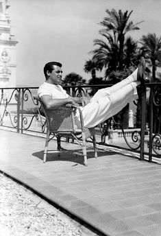 Cary Grant realxing in Monte-Carlo, French Riviera, July 1939