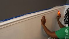 How to Install Picture Frame Moulding Wainscoting - ToolBox Divas Installing Wainscoting, Wainscoting Height, Dining Room Wainscoting, Wainscoting Styles, Wainscoting Panels, Picture Frame Molding, Picture Frames, Stair Paneling, Narrow Hallway Decorating