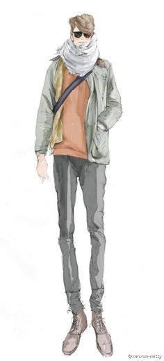 Men Fashion Designer Sketches Fashion Drawing Men