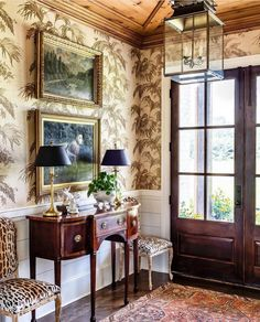 Foyer Design, House Design, Entry Hallway, Room Planning, Of Wallpaper, Traditional House, Home Builders, Decoration, Beautiful Homes