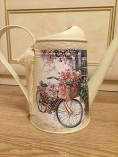 Купить или заказать Лейка с велосипедом в интернет-магазине на Ярмарке Мастеров. Стильная лейка не оставит равнодушным ни одну любительницу цветов. Лейку можно использовать по прямому назначению, как вазу, либо как элемент декора. Отличный подарок!