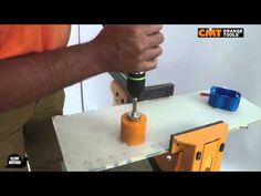 CMT hole saw 550 on plasterboard
