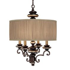 kitchen table lighting universeCapital Lighting 3884CZ-445 4 Light Park Place Chandelier, Champagne Bronze