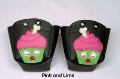 BLACK skate toe guards with Zombie Cupcakes on Etsy, £25.00