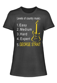4a39cf3e Levels Of Country Music George Strait T-Shirt George Strait T Shirts, Brad  Paisley