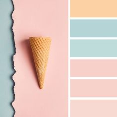 100 Color Inspiration Schemes : Mint and Rose Pink Color Palette #color #colorscheme #mint #rosepink