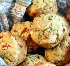 Savory Spinach, Feta and Roasted Pepper Muffins