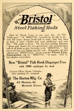1909 Bristol steel rods ad.