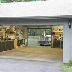 Make your garage your second living room. Sweet!