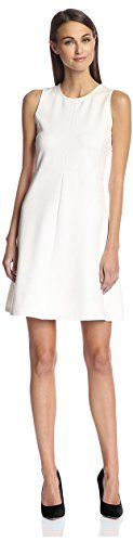 SOCIETY NEW YORK Women's Fit-and-Flare Dress, Ivory, M: Sleeveless ponte knit dress with seaming detail and a flattering flared skirt Flare Skirt, Flare Dress, Pretty Dresses, Dresses For Work, Tiered Skirts, Womens Cocktail Dresses, Women's Fashion Dresses, Summer Outfits, Sexy Outfits