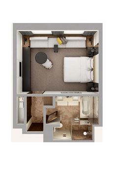 Master Bedroom Plans, Master Bedroom Layout, Hotel Bedroom Design, Bedroom Closet Design, Bedroom Furniture Design, Bedroom Layouts, Bathroom Layout, Casas Containers, Apartment Floor Plans