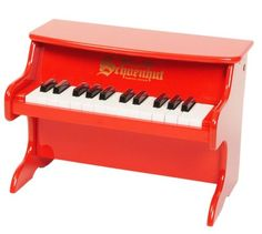 Can a gift possibly get any cuter? This mini Schoenhut Piano will be big fun for your toddler. The 25-key model is a perfect first instrument for your future Beethoven, inspiring creativity and an early love of music.