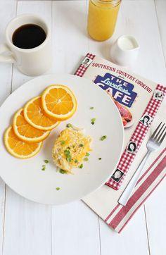 Loveless Cafe casserole - potatoes, cream of potato soup, onion, cheddar cheese, garlic & sour cream.