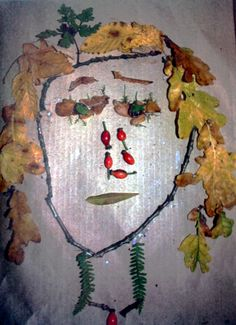 A great idea to use things from nature to make art! We love the creativity from Amelie, 5 years old, our Artist Of The Day on 10/11/2012! #kidart #nature #collage