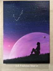 Are you a fan of painting? Or you want some oil painting for home decor? Today we have collected 6 super beautiful painting art for you. kunst, How To Start Painting On Canvas – Easy Oil Paintings Cute Canvas Paintings, Easy Canvas Painting, Easy Paintings, Beautiful Paintings, Painting & Drawing, Watercolor Paintings, Oil Paintings, Sky Painting, Canvas Canvas
