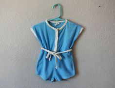 vintage 1970s PLAYSUIT jumper 12 months // by trucksanddolls, $18.00