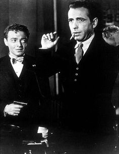 The Maltese Falcon (1941) Humphrey Bogart rocked the part of Sam Spade. You can tell he loved playing this charecter...