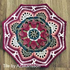 Persian Tile Blanket | Featured on CrochetSquare.com