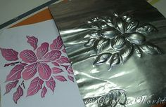 Embossing foil DIY tutorial