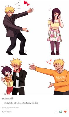 "<3 Naruto, Hinata, Himawari & Boruto - ""i'm sure he introduces his family like this"""