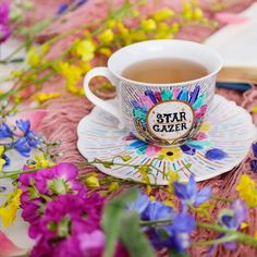 Never stop looking up at the stars ✨⭐️ Star Gazer Teacup by The Quirky Cup Collective