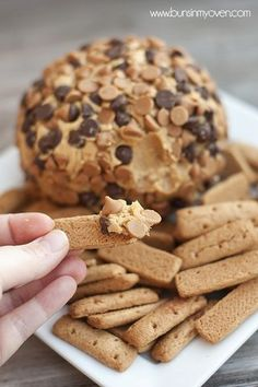 Peanut Butter Cheese Ball recipe from Buns in My Oven | Featured in Dessert Dips slideshow from Gooseberry Patch