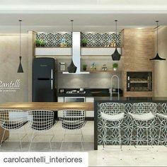Carol Cantelli e uma forma linda de uso do Ladrilho Negro 56x56cm…