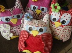 Creative Ideas - DIY Cute Fabric Owl Ornaments with Free Pattern 3