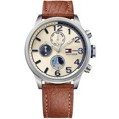 Relógio Tommy Hilfiger Masculino Couro Marrom - 1791239