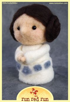 Artist: Michelle Miller ~ This needle felted piece is amazing!! Nothing like a little craft & Star Wars loving!
