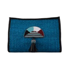 Jiamini blue sisal clutch bag by Katchy Kollection