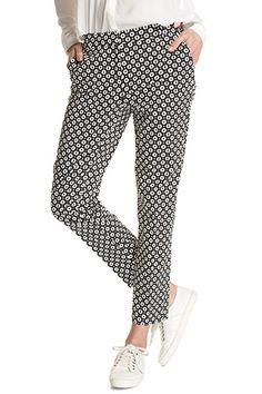 Esprit / Katoenen broek met print