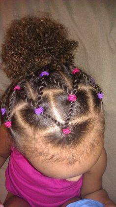 style for babygirl Mixed Kids Hairstyles, Cute Toddler Hairstyles, Kids Curly Hairstyles, Natural Hairstyles For Kids, Cool Hairstyles, Hairstyle Ideas, Black Hairstyles, Hairstyle For Kids, Bangs Hairstyle