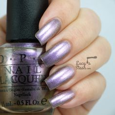 OPI Brazil Collection - Review &  Swatches.  ★ Next Stop…The BikiniZone★  amethyst-toned pewter nail polish.