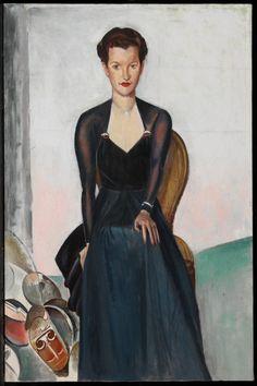 Sainsbury, oil on canvas, 89 x cm, National Gallery of Canada Wyndham Lewis, 1930s Fashion, Female Portrait, Oil On Canvas, Gallery, Portraits, Canada, Google Search, Inspiration