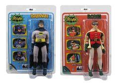 Batman Classic 1966 TV Series 1 Batman & Robin 8-Inch Action Figures