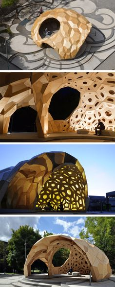 """""""ICD + ITKE Research Pavilion 2011"""" @ Stuttgart, Germany (by ICD & ITKE)"""