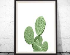 Cactus de impresión arte impresión de cactus, planta de impresión, Grabado Botánico, arte Cactus, Cactus decoración, arte de la pared impresiones digitales, Cactus Poster, decoración de la pared