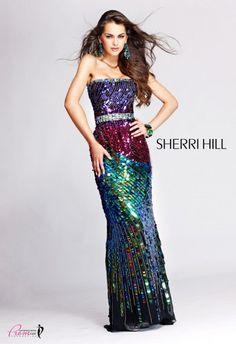 #SherriHill 2772 Sequin prom dress, multi color prom dress, strapless prom dress, #InternationalProm #Prom #Promdress #Prom360