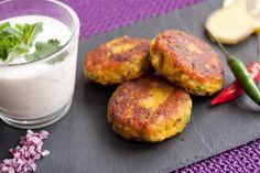 Aloo tikki - IndischeKartoffelplätzchen - Mit Soja Joghurt ist es vegan