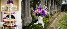 Love love LOVE purple flowers! And we definitely love the purples accents on the cupcake tower and that gorgeous bouquet by Melissa Timm Designs. Click the image link to contact her today! Image credit: Melissa Timm Designs Facebook page.