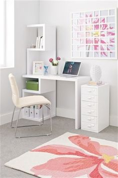 Buy Milano White Desk from the Next UK online shop Study Room Decor, Room Ideas Bedroom, Bedroom Decor, Home Office Design, Home Office Decor, Home Decor, Desk Office, Study Table Designs, Desks For Small Spaces