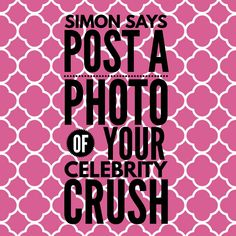 Simon Says game: celebrity crush. #ThirtyOne #ThirtyOneGifts #31Party…