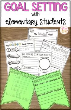 Goal Setting With Elementary Students Growth Mindset & SMART Goal Setting - Activities for any elementary classroom that helps students learn how to set goals & monitor their progress to meet them. Goal Setting For Students, Smart Goal Setting, Elementary Goal Setting, Student Goal Settings, Academic Goals, Student Goals, Student Data Binders, Student Feedback, Student Self Assessment