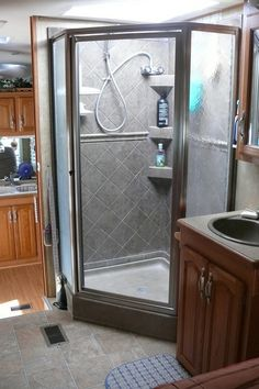 Whether you get an RV tankless water heater or not usually comes down to whether or not your RV shower keeps water hot long enough for you. photo by .Larry Page on Flickr
