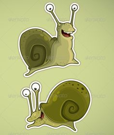 Two Snails #GraphicRiver Illustration «Two snails» This image is a vector illustration and can be scaled to any size without loss of resolution. This image will download as a .eps file. You will need a vector editor to use this file (such as Adobe Illustrator). This works created in adobe illustrator, sometimes used to draw a graphic tablet. In the illustrations do not use other people's works, only my sketches or photo. Created: 3March12 GraphicsFilesIncluded: PhotoshopPSD #JPGImage…