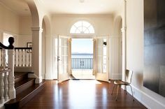 From Remodelista - remodeled historic house in San Francisco Bay. Beautiful lines and views everywhere.