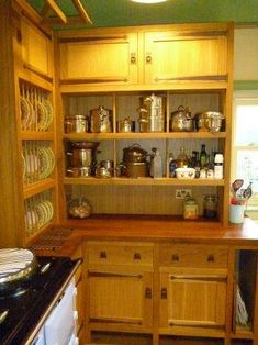 new arts and crafts movement oak fitted unfitted kitchen