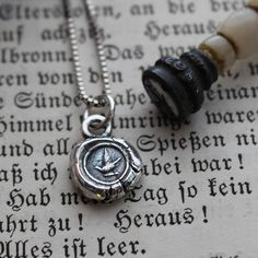 Messenger Dove Wax Seal Necklace