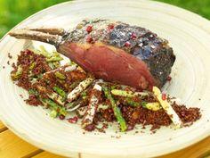 Hel entrecôte med vårsallad och röd quinoa Receptbild - Allt om Mat